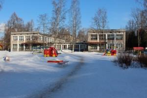 детский сад зимой